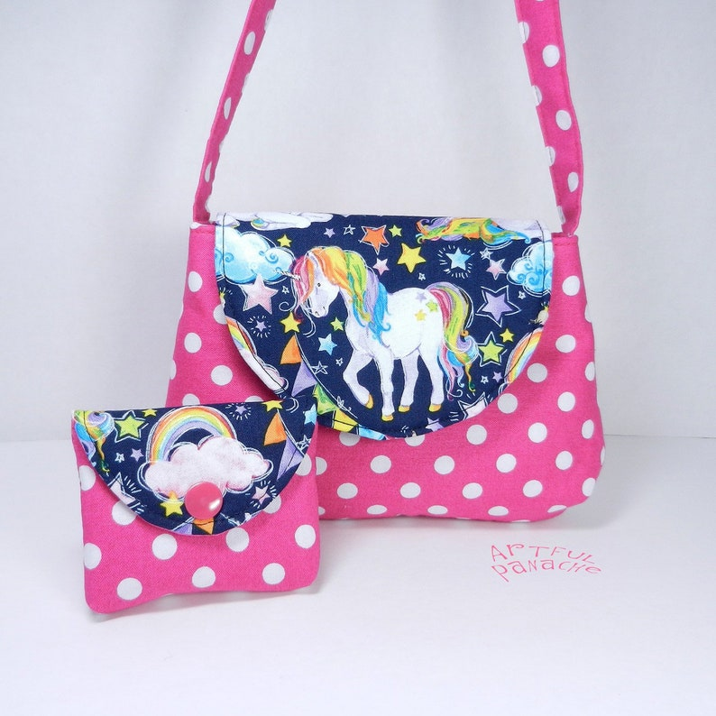 Little Girl Purse with Matching Coin Pouch