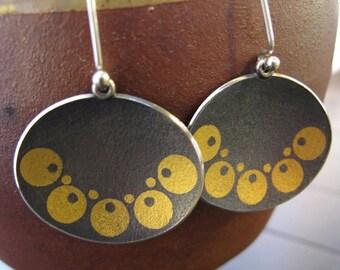 Gold on Black - Oogonia Dangles