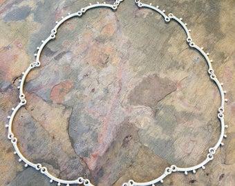 Simply Silver  Necklace - Spores