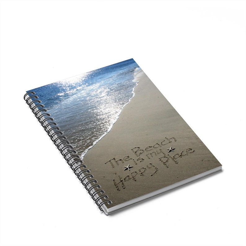 The Beach is my Happy Place Spiral Notebook  Ruled Line image 0