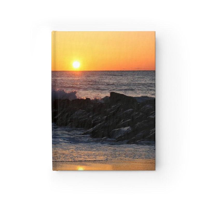 Sunrise Over the Ocean Beach Journal Ruled Line Notebook image 0