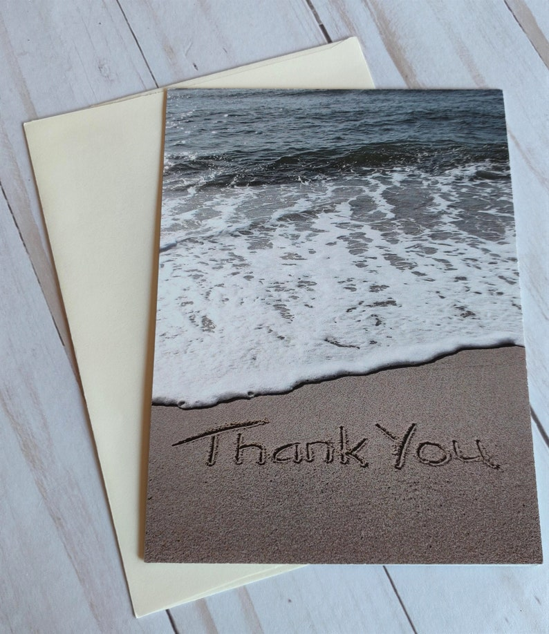 Thank You Card Ocean Beach Photo Card image 0