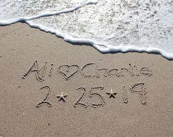 Beach Writing, Names in the Sand, Beach Photo, Custom Beach Art, Beach Lover