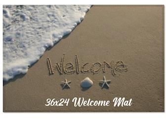 Welcome Beach Mat, Beach Decor, Beach Give, New House Gift, Beach House Gift, Unique Welcome Mat