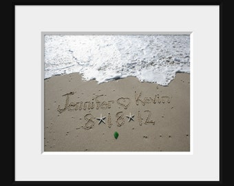 Names in the Sand Beach Writing PRINTED 5x7 or 8x10