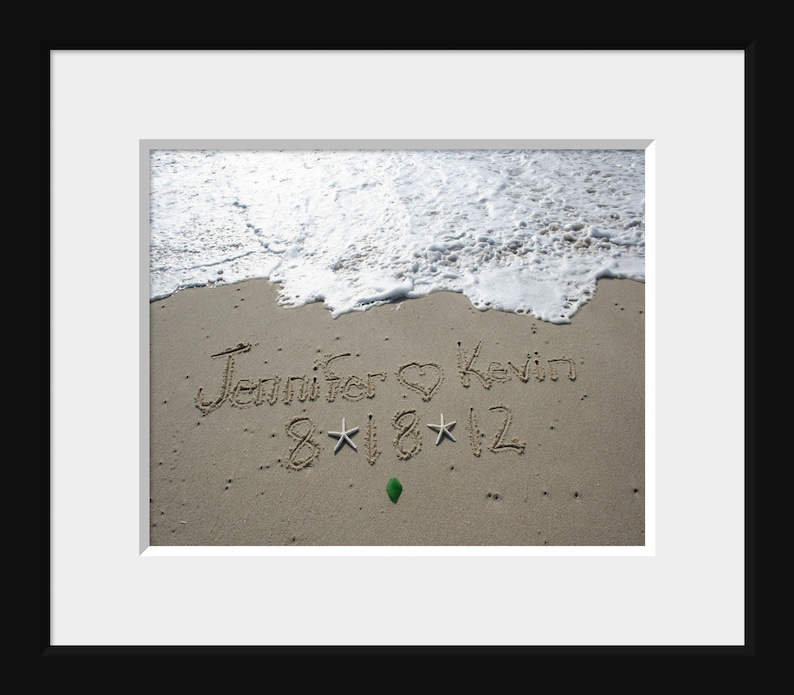 Names in the Sand Beach Writing PRINTED 11x14 Large Photo image 0