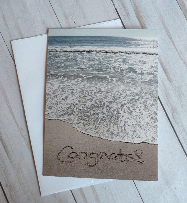 Congratulations Occasion Card Ocean Beach Photo Card image 0