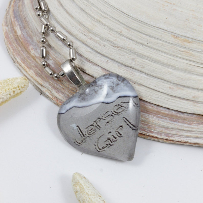 Jersey Girl Beach Necklace Heart Shaped Necklace Jersey Shore image 0