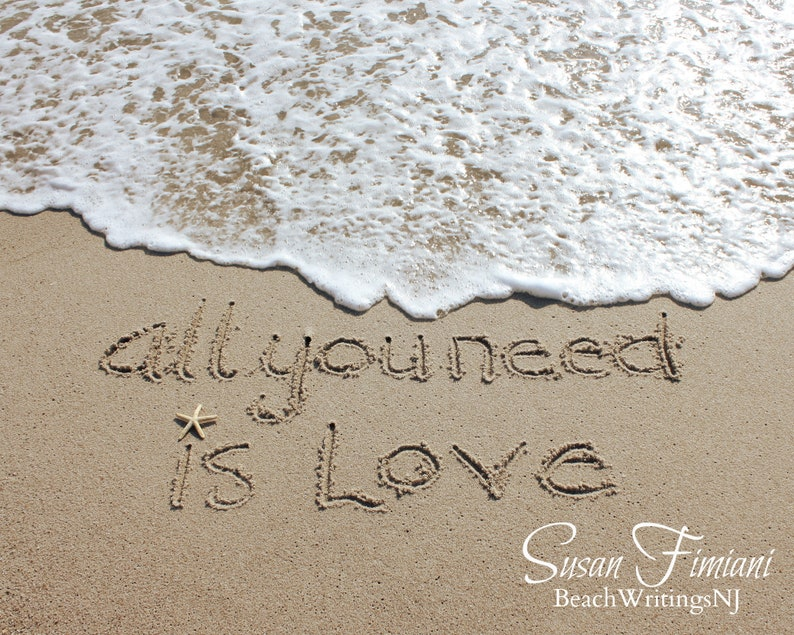 All you need is love 5x7 8x10 Printed fine art photo Names in image 0
