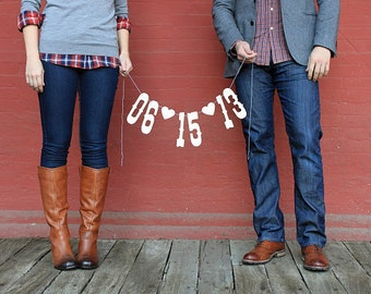 Save the Date Banner - Engagement Photo Prop