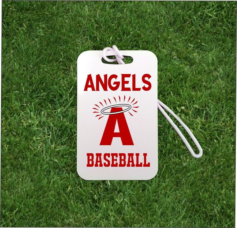 5323035d3353 Personalized Bag Tag with Angels Baseball for Team and Coach