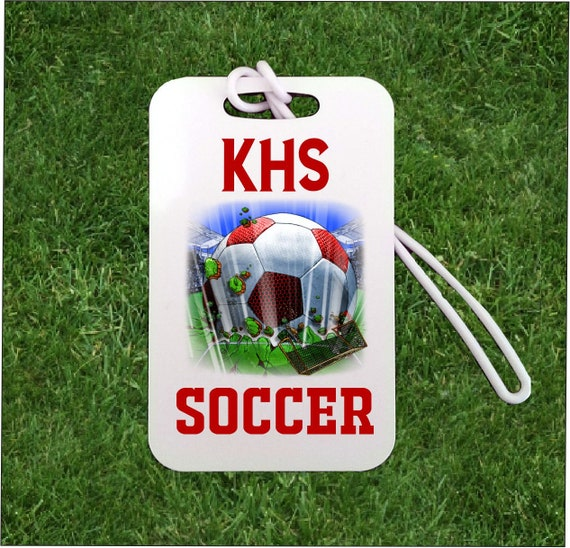 4e1fb19d0dca Personalized Soccer Bag Tag Custom Soccer Luggage Tags with