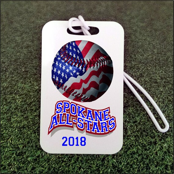 a903d2a5bf3f Custom Baseball Bag Tag for Coach and Sports Team Gifts gym