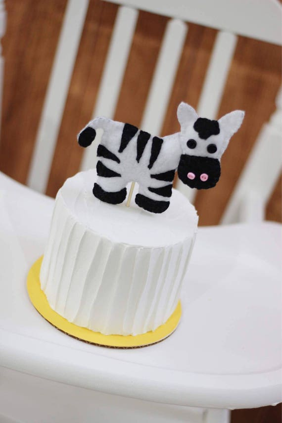 Zebra Cake Topper Jungle Animal Birthday Baby Shower Zoo