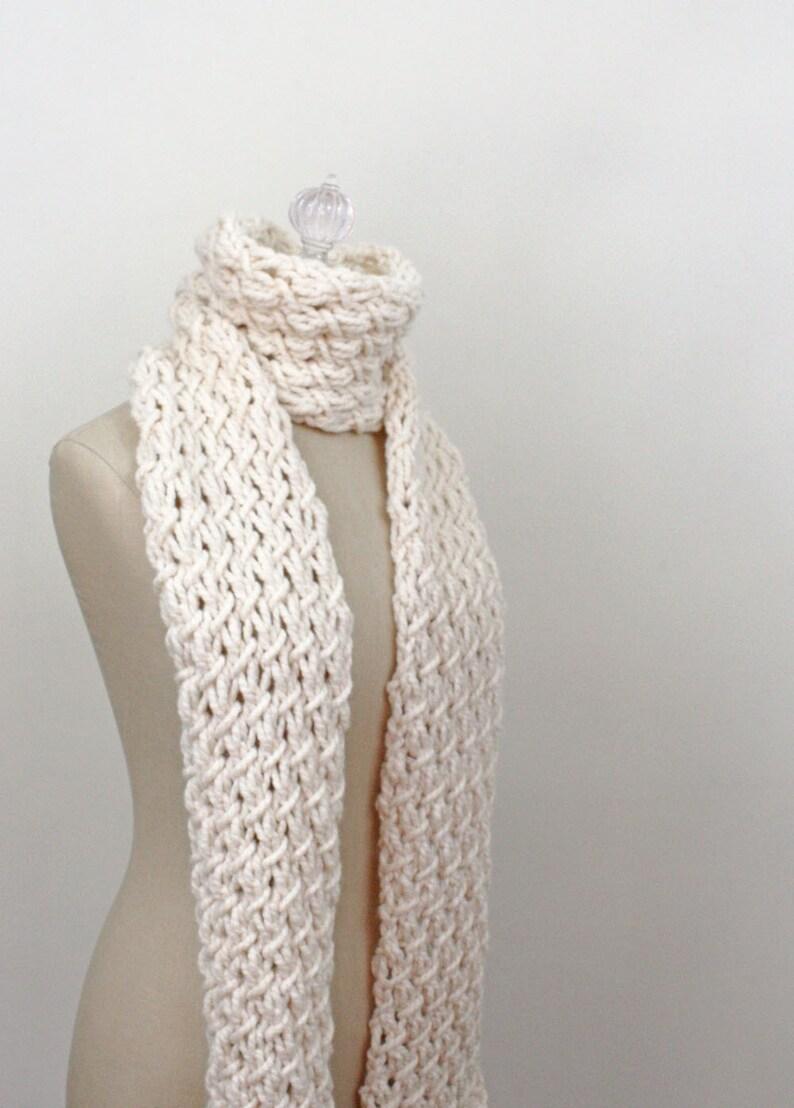 Chunky Scarf Knitting Pattern Phydeaux Twist Pdf Digital Etsy