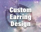 Custom-made earrings: Afr...