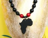 Africa Necklace, Black Af...