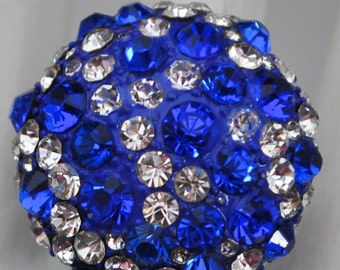 Royal Blue Ring/ Statement Ring/Gift For Her/Rhinestone/Spring/Summer Ring/Adjustable/Under 15 USD