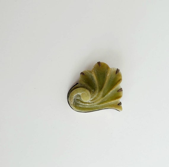 Signed Eisenberg Brooch, Chartreuse Jewelry, 1940s