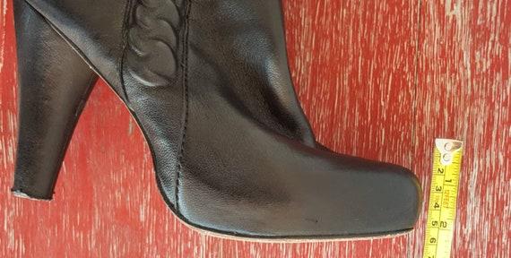 Vintage Boots Women Size 9,  Black Leather Boots,… - image 10