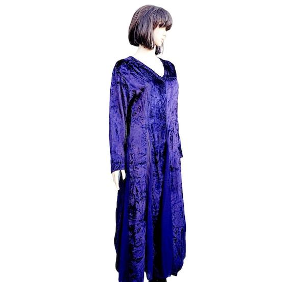 90s Purple Velvet Cardigan US 6 1990s