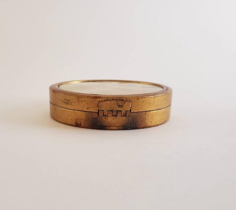 Canco Beautebox Face Powder Rare Antique Compact Case Tin 1920s Art Deco Henry Clive Art Rudolph Valentino Grandmillenial Decor