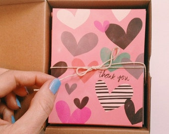 Hearts Aflutter Thank You notes