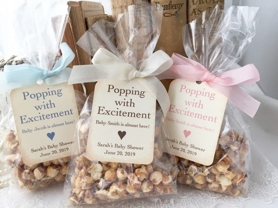 Baby Popcorn Favor Bags Baby Shower Popcorn Favor Bags Etsy