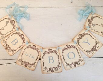 B is for Boy Banner Winnie the Pooh Garland Baby Shower Decoration Photo Prop