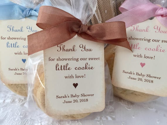 Cookie Favor Bags Cookie Baby Shower Favor Bags Cookie Favor Etsy