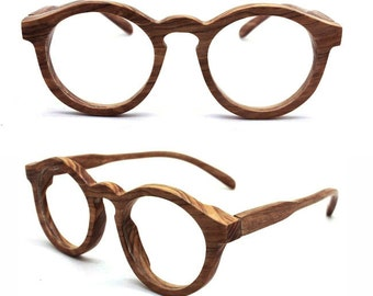 2546fdc1622 TAKEMOTO olive wood THANKS handmade round glasses with wood box custom order