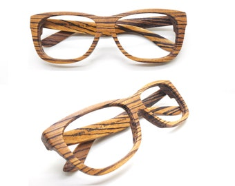 10056a4e73 Large size Black Friday 30% OFF Customize Walker2012 Handmade zebra Wooden  reading prescription Eyeglasses Wood Sunglasses XXL Frame
