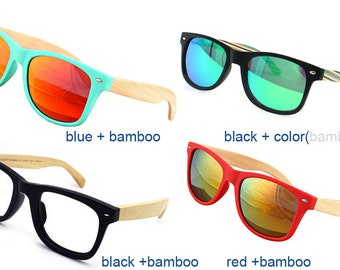 a710d990a7 free shipping TAKE MJX1302 wayfarer handmade wood wooden sunglasses men  women bamboo glasses customized prescription lenses RX sunglasses
