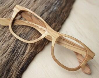 180694030c Walker2012 Olive Wood Takemoto Handmade Glasses customized prescription  eyeglasses