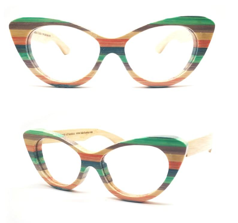 da84c14463b0 Colour bamboo skateboard wood TAKEMOTO cat eye heart shape