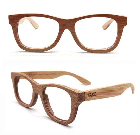 Handmade Bamboo Natural Brown Eyeglasses Glasses Frames | Etsy