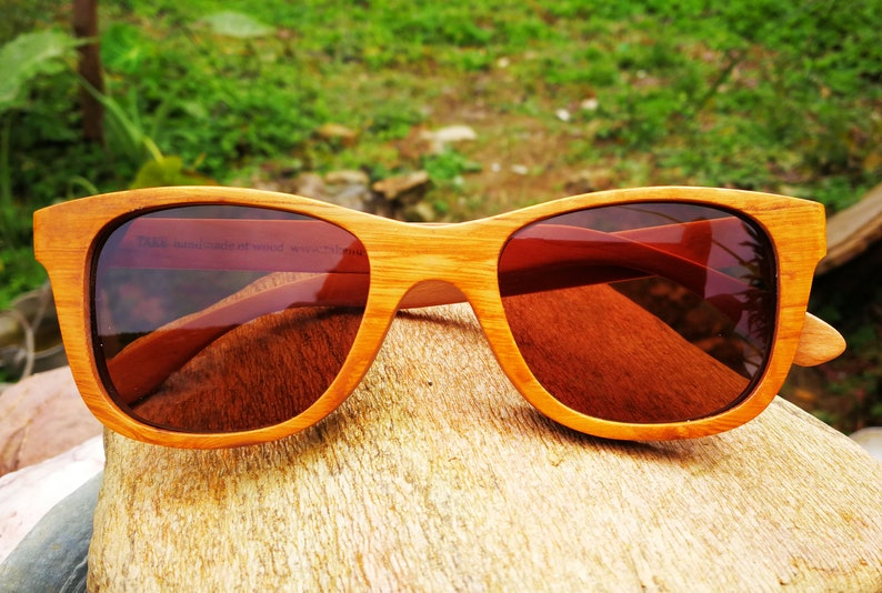 e2a545a993 Gold wood glasses in the world TAKEMOTO Handmade Wooden