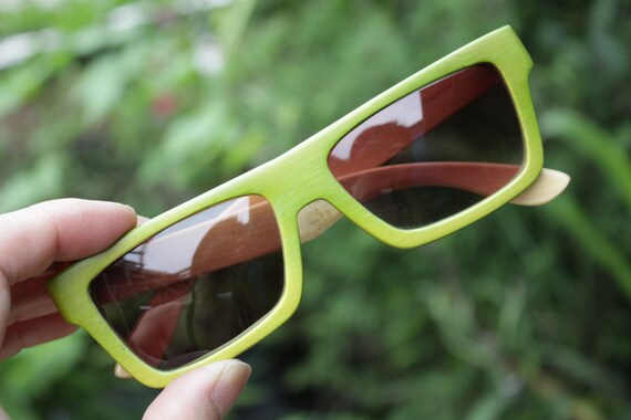 d0d3316daede takemoto. 0. Apple agreen 100% handmade bamboo qusare prescription TAKEMOTO  sunglasses ...