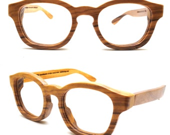 olive wood wooden prescription glasses frames eyewear COVER-M  by  TAKEMOTO