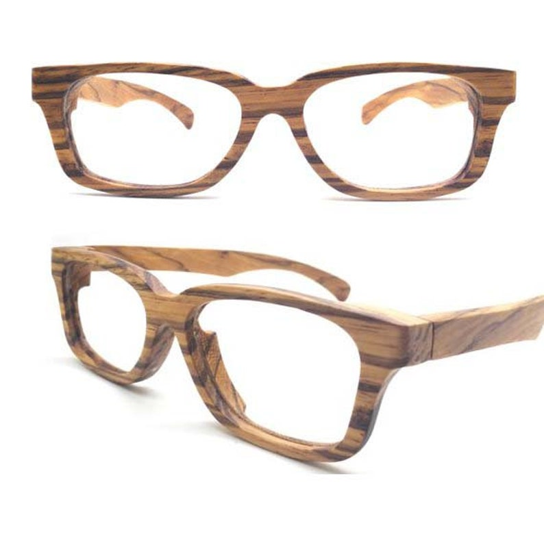 2fa3e1fd72 Customize prescription AUTUMN PARIS Handmade zebra Wooden