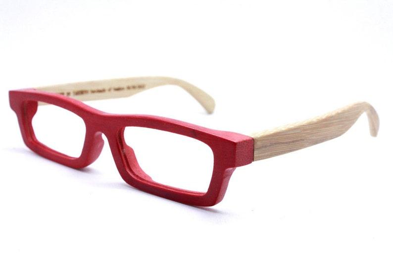 03df36b5e2a3 Handmade Bamboo Love-bamboo Takemoto Red prescription reading