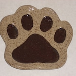 Dog Paw Dish; spoon rest; dog lover; soap dish; ring dish;Dog Paw Plate