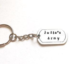Julia's Army Keychain