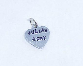 Julia's Army Charm (option you add bracelet)