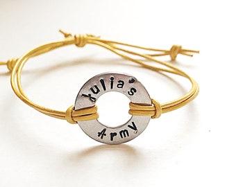Julia's Army Washer Bracelet