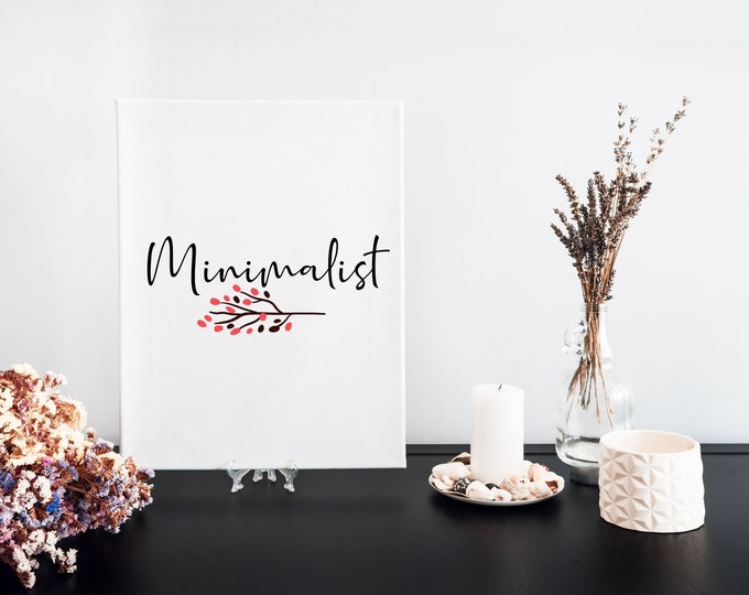 Minimalist Typography Focus Word Art Print, Printable Word of the Year, Motivational Mantra, Minimalist Word Art, Vision Board Artwork