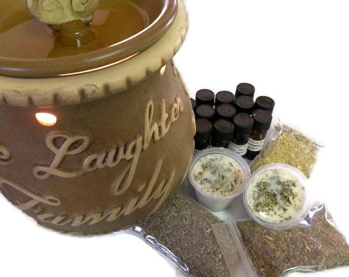 Spiritual Rosemary Lemongrass Wax Melts, Fresh Dried Herb Scented Wax Cubes
