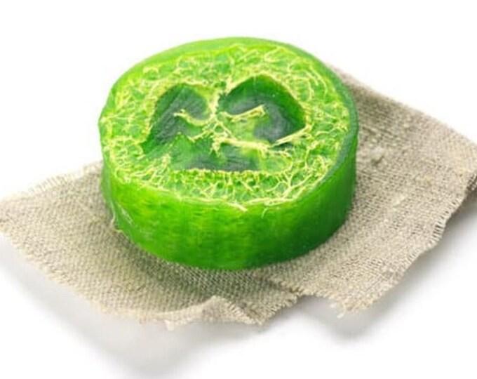 Sage Loofah Soap Bar, Exfoliating Body Scrub, Moisturizing Skincare