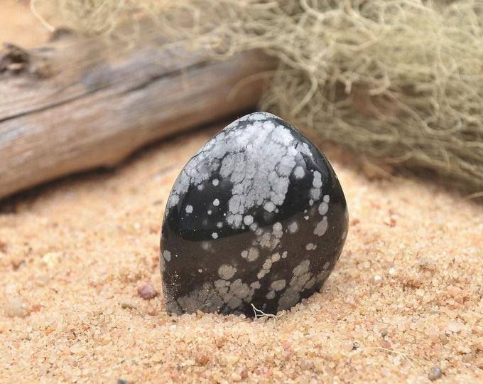 Tumbled Snowflake Obsidian Healing Crystal, Root Chakra, Crystals For Grids, Spiritual Supplies