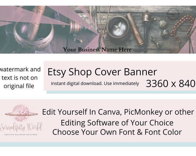 Spiritual Etsy Cover Photo, Smudging Etsy Premade Cover Image, Professional Etsy Shop Banner, Business Branding